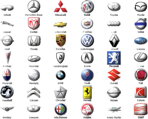 loga samochodowe 500