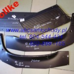 Mercedes 107 reperaturka błotnika tylna